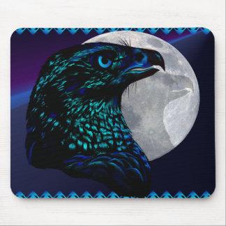 Schwarzes Eagle und Moon_Mousepad Mousepad