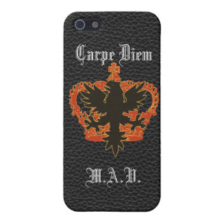 Schwarzes Eagle und roter Krone Carpe Diem iPhone iPhone 5 Cover