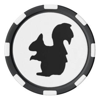 Schwarzes Eichhörnchen-Poker-Chips Pokerchips