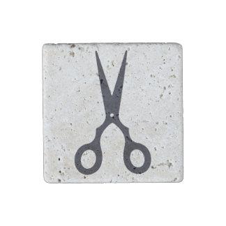 Schwarzes einfaches Haar Scissors Steinmagnet