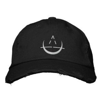 Schwarzes ELOSIN Mond-Symbol beunruhigte Bestickte Baseballkappe