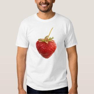 Schwarzes ErdbeerShirt mit einer großen roten Tshirt