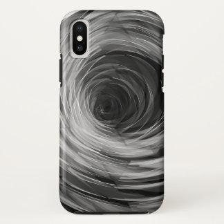 Schwarzes facettierte Strudel - Apple iPhone X iPhone X Hülle