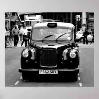 schwarzes Fahrerhausplakat Poster