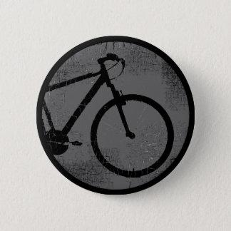 schwarzes Fahrrad in einem Kreis Runder Button 5,1 Cm