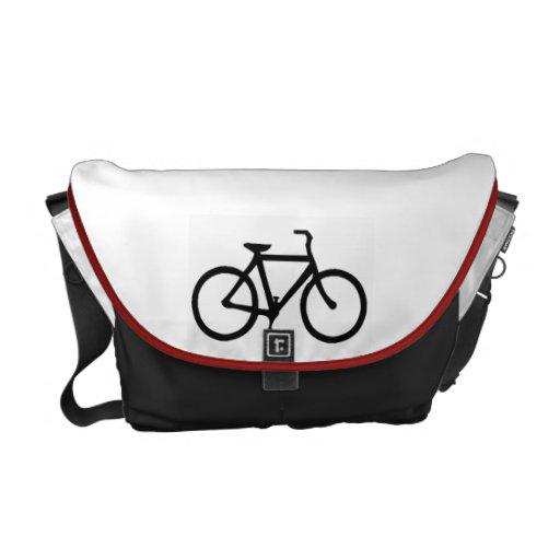 Schwarzes Fahrrad Kurier Tasche