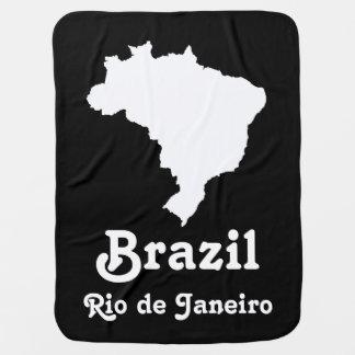 Schwarzes festliches Brasilien mit Kinderwagendecke