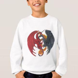 Schwarzes Feuer-Einhorn und roter Drache Sweatshirt