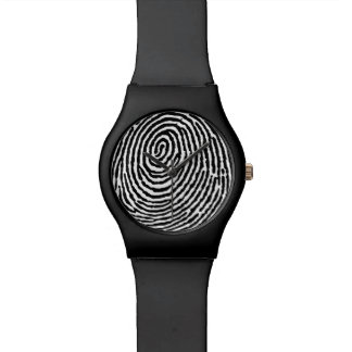 Schwarzes Fingerabdruck-Muster - kundenspezifische