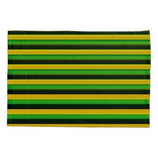 Schwarzes Gelbgrün-gestreifter Kissenbezug, Kissenbezug
