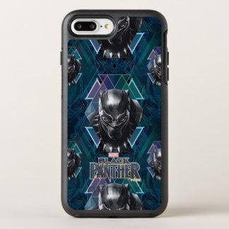 Schwarzes geometrisches Charakter-Muster des OtterBox Symmetry iPhone 8 Plus/7 Plus Hülle