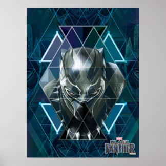 Schwarzes geometrisches Charakter-Muster des Poster