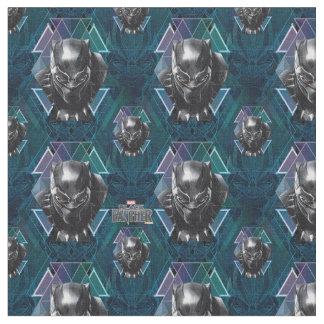 Schwarzes geometrisches Charakter-Muster des Stoff