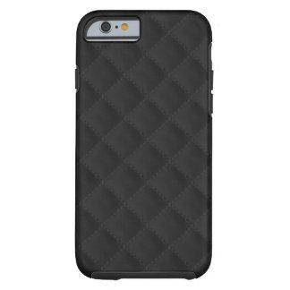 Schwarzes gestepptes Leder Tough iPhone 6 Hülle