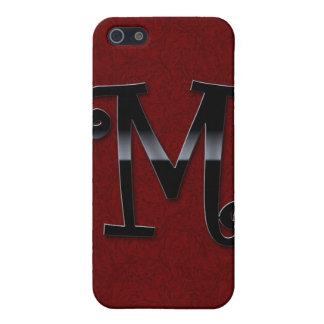 Schwarzes Glanz-Monogramm - M iPhone 5 Schutzhüllen