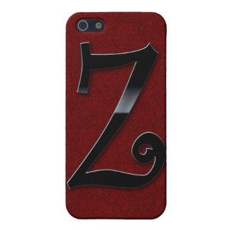 Schwarzes Glanz-Monogramm - Z Schutzhülle Fürs iPhone 5