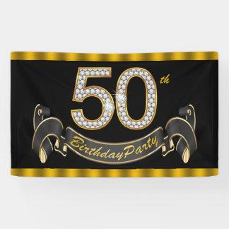 Schwarzes Gold50. Geburtstags-Party Banner