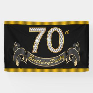 Schwarzes Gold70. Geburtstags-Party Banner