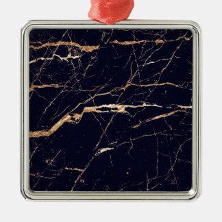 Schwarzes Gold Silbernes Ornament