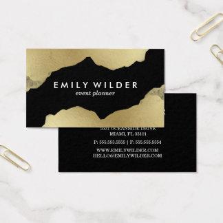 Schwarzes Gold tauchte | Visitenkarte ein