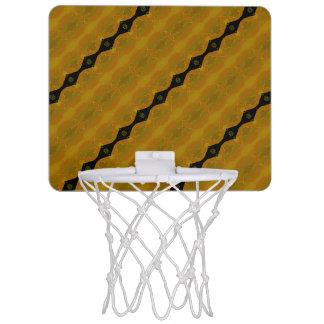 Schwarzes Gold und olivgrüner moderner abstrakter Mini Basketball Ring