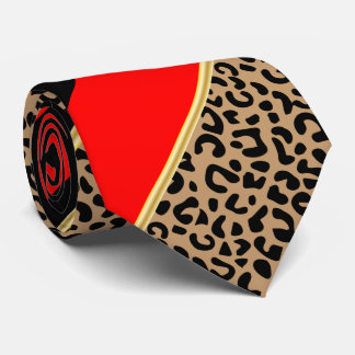 Schwarzes, Gold und roter diagonaler Personalisierte Krawatten