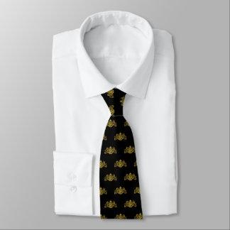 Schwarzes Goldlöwe-Einhorn-Emblem-Smoking Krawatte