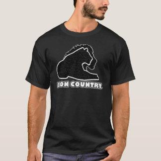 Schwarzes Goldlöwe-Land-einzigartige T - Shirts