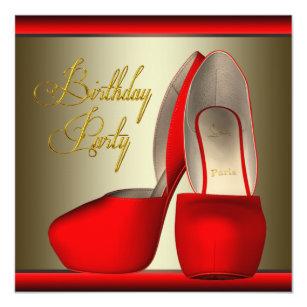 Rotes Stilett Einladungen |