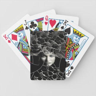 Schwarzes gotisches bicycle spielkarten