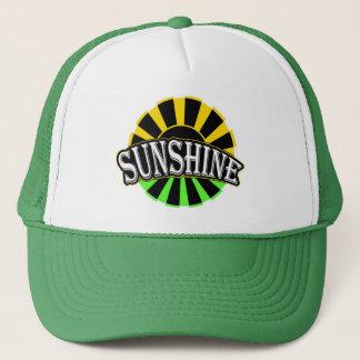 Schwarzes grünes Logo des Sonnenscheins Truckerkappe