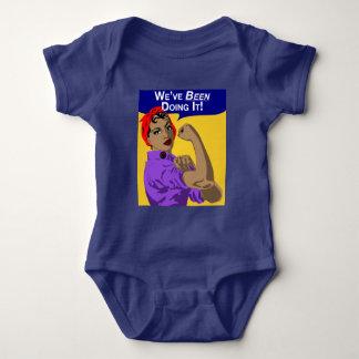Schwarzes haben Rosie-Wir es - Baby-Spielanzug Baby Strampler