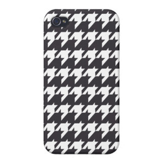 Schwarzes Hahnentrittmuster iPhone 4/4S Case