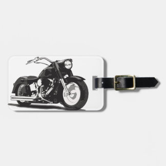 Schwarzes Harley Motorrad Gepäckanhänger