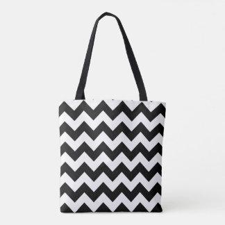 Schwarzes Häuschen - Doppelspitzen Tasche