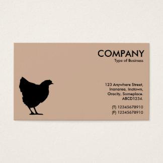 Schwarzes Henne-Symbol - hellbraunes d2b29a Visitenkarte