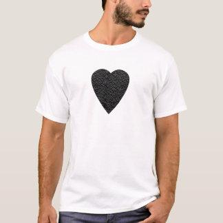 Schwarzes Herz. Gemusterter Herz-Entwurf T-Shirt