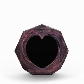 Schwarzes Herz mit buntem Hintergrund-Preis Auszeichnung