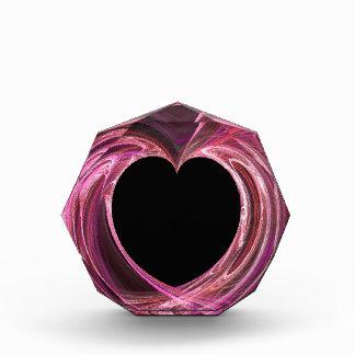 Schwarzes Herz mit buntem rosa Hintergrund-Preis Auszeichnung