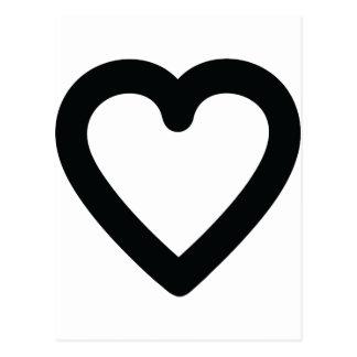 schwarzes Herz Postkarten