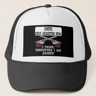 Schwarzes I Think sind ich bewaffnete Truckerkappe