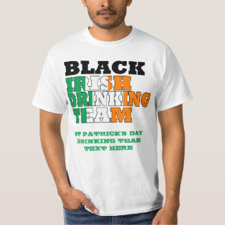 Schwarzes irisches trinkendes Team T-Shirt