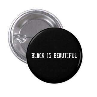 Schwarzes ist schön runder button 3,2 cm