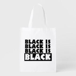 Schwarzes ist schwarz wiederverwendbare einkaufstasche