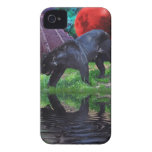 Schwarzes Jaguar-Fantasie-BlackBerry-mutiger