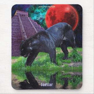 Schwarzes Jaguar u. Chichen Itza Tempel u. Mousepads