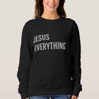 Schwarzes JESUS ALLES Sweatshirt