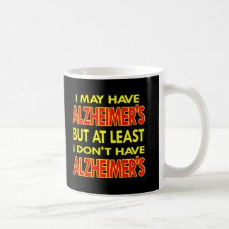 Schwarzes kann Alzheimers haben Kaffeetasse