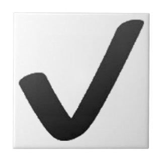Schwarzes Karo-Kennzeichen - Emoji Keramikfliese