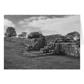 Schwarzes karrt Drehkopf auf Hadrians Wand Karte